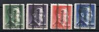 Grazer overprint on Hitler high values 1-5 Reich Mark