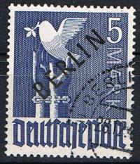 1948 5 Mark, black over print